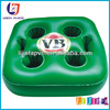 Green PVC Inflatable 4 Holes Can Holder Cushion