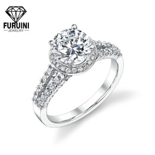 High quality 925 sterling silver ring, wedding jewelry clear wedding ring
