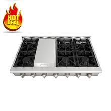 kitchen equipment restaurant 48 inch 6 burner gas cooker stove