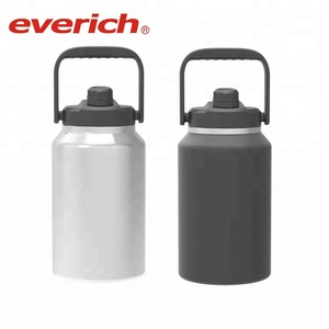 Everich 1gal 2L double stainless steel vacuum insulated beer grolwer keg with handle lid