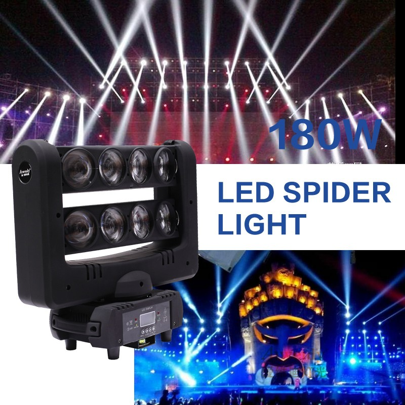 Stage effect light equipment 4in1 led colorstage halloween light spider