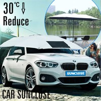 Car flood protection inflatable car cover for hail waterproof car paint plastic cover