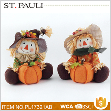 thanksgiving table decoration multifunction scarecrow handicraft making with pumpkin
