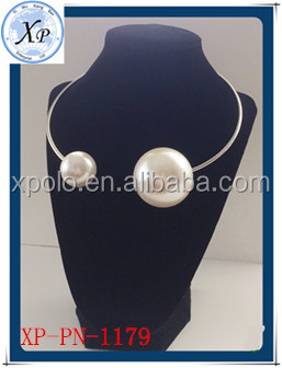 Wholesale fashion big pearl necklace costume jewelry/freshwater pearl necklace