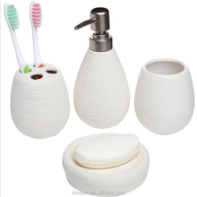Wholesale promotion bathroom accessories 4pcs ceramimc bath set