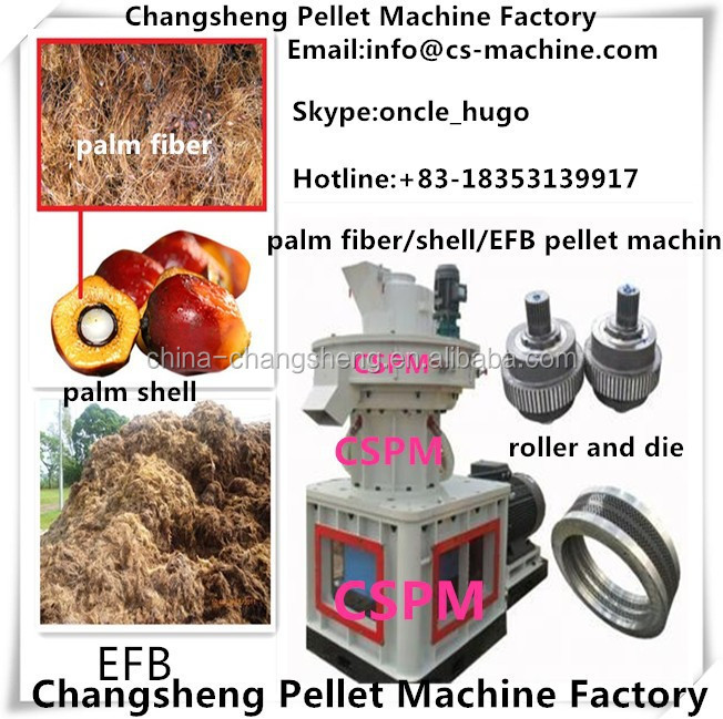 CSPM 2015 oil palm empty fruit bunch fiber pellet making machine for sale