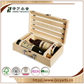 Custom-made Wooden Wine Box With 2 or More Bottles of Wine