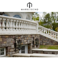 customized deck balcony natural stone baluster railing