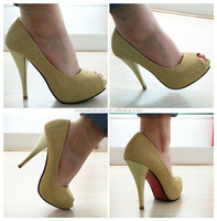 Your own brand shoes gold overseas ladies shoes bangkok