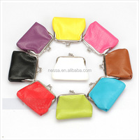 2016 girls beautiful PU wallet candy color Purse/ladies coin purse wholesale LQM-201601