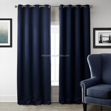 Wholesale Bule and Black Blackout Curtain for Meeting Room Home Windows 100% Polyester Fabric Hotel Blackout Curtain