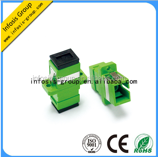 hot selling cheap price Green color Sc duplex fiber optic duplex multimode SC/apc high performace fiber optic adapter