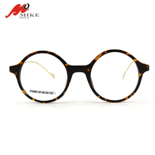Retro women round demi reading glasses with metal temples personalized eyeglasses