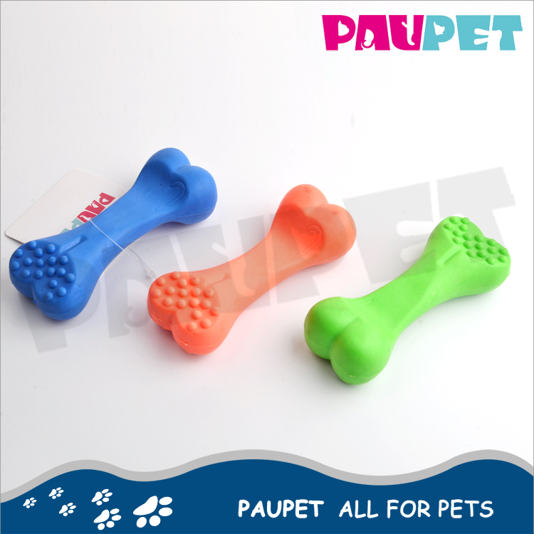 Various models blue, red, green fashion funny bone tpr dog toys