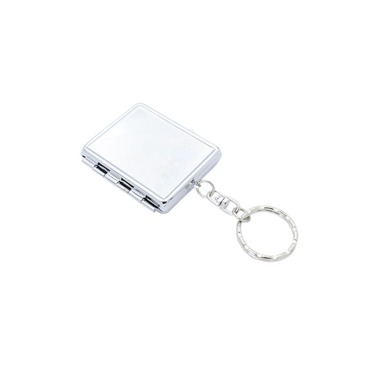 Wholesale double sided portable folding small mini sublimation blank travel compact mirror