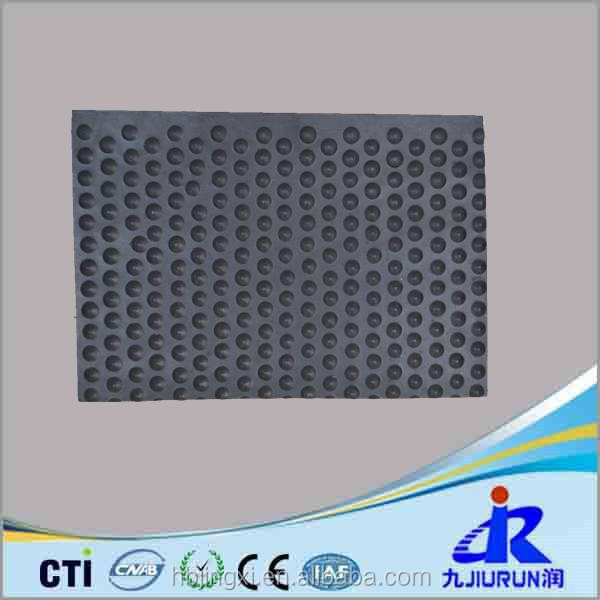 Dense Round Dot Shape Stable Cow Rubber Mat For Sale