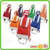 Metal shopping trolley leather travel bag in factory price