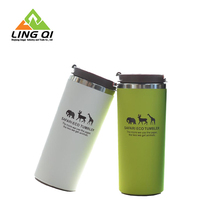 Novelty wholesale double wall stainless steel travel mug 450ml