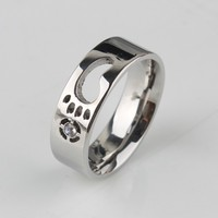6MM Stainless Steel Wedding Foot Feet Steel Ring