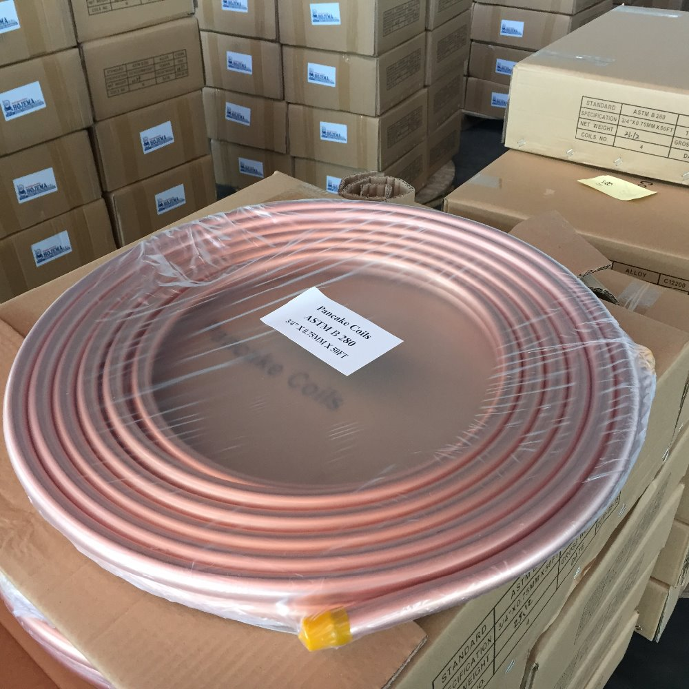 ASTM B280 refrigeration copper tube coil