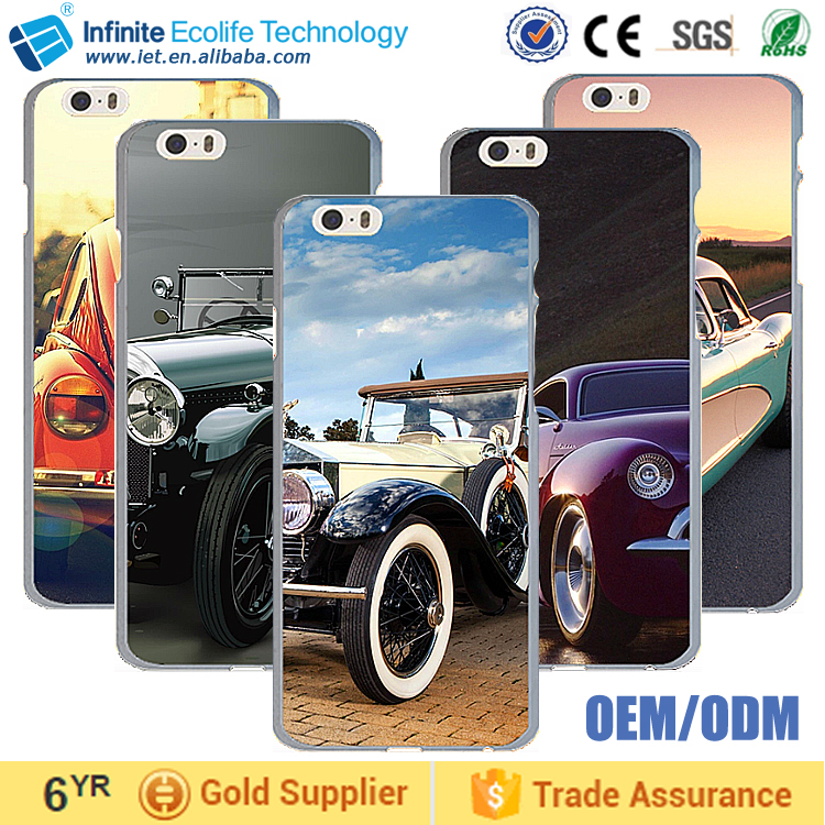 Soft plastic TPU Rubber coating hard PC back cover metal sheet plate with print mobile 2D sublimation aluminum phone case