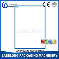 Customised stickers A4 clear sticker paper adhesive label a4 sticker