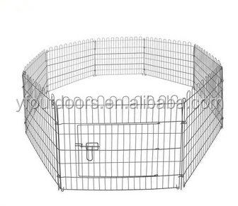 Folding iron dog kennels