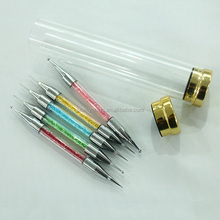 5 X 2 Way Marbleizing Dotting Pen Set for Nail Art Manicure Pedicure