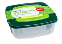 3 in 1 Square Plastic Container