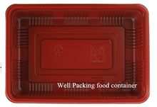 disposable blister pp plastic packing food tray with lid