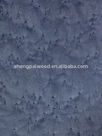 0.5mm 1mm thickness Bird's Eye Maple dyed engineered decorative wood veneer