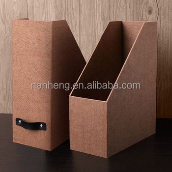 NAHAM best selling cardboard vertical magazine file holder