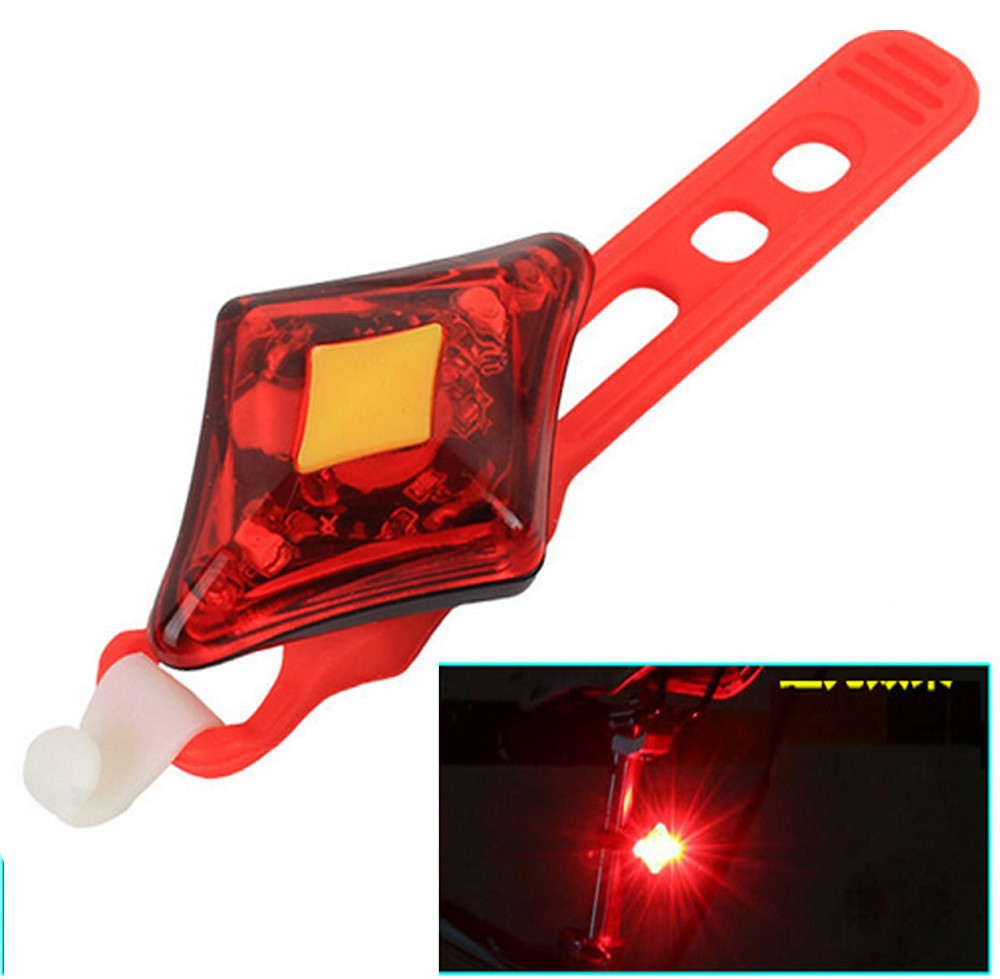 Goread GB12 USB charger safety red or blue warning bike lamp 2 LED high bright 3 mode safe light plastic Bike Tail light