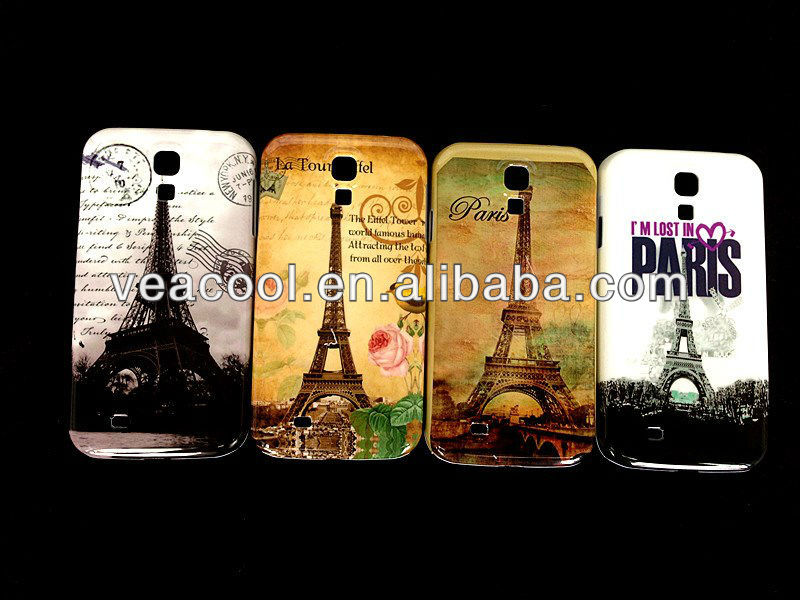 Retro Old Paris LA Tour Eiffel Tower Plastic Hard Back Phone Case Cover Skin For Samsung Galaxy S4 SIV i9500
