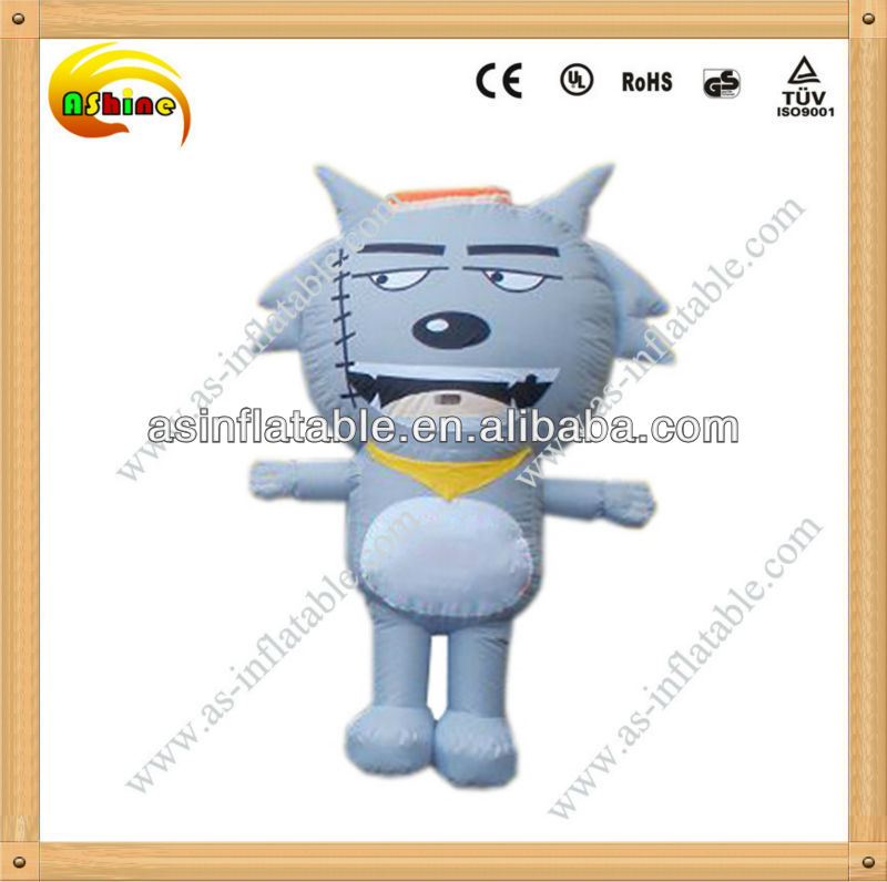 Popular and portable inflatable wolf toy for kids