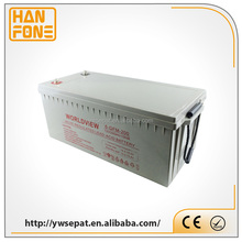 Rechargeable gel battery 12v 200ah Deep Cycle solar battery