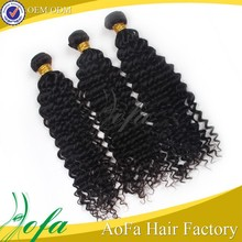 Wholesalse price natural color 100% virgin human hair deep wave for black women