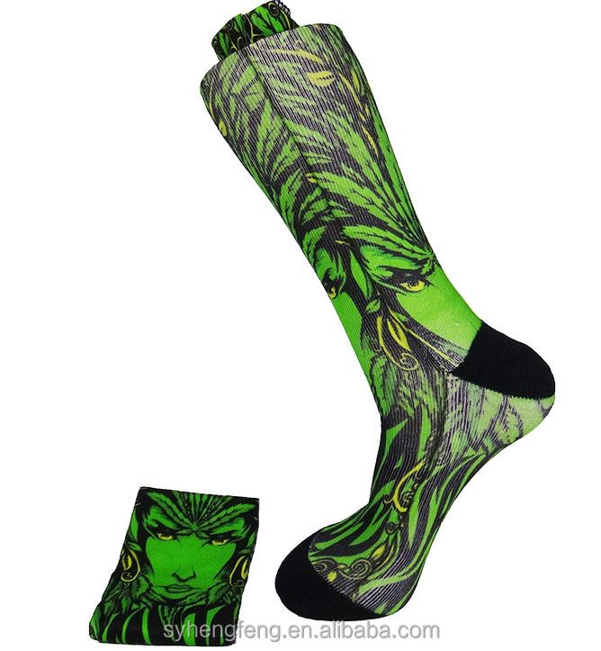 Wholesale long socks 3D print socks digital printing socks