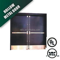 PANIC BAR INSTALLED DOUBLE FIRE RATED STEEL HOLLOW METAL DOORS