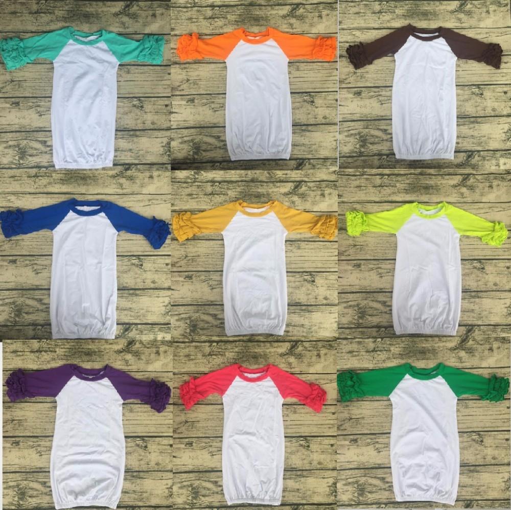 Wholesale Blank Little Kids Soft Cotton Night Sleep Gown Plain Knit ...