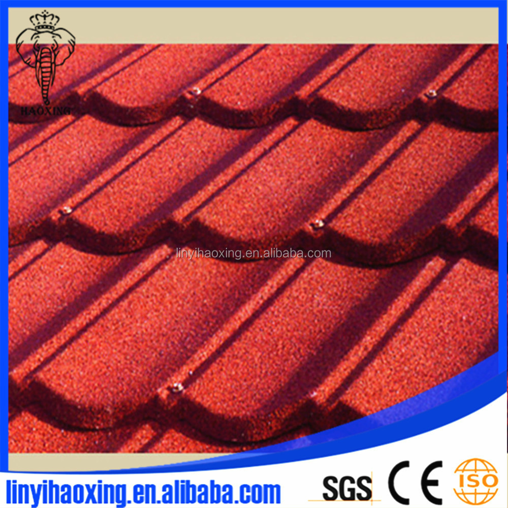 colorful Roman stone coated metal roof tile