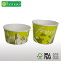Disposable food grade paper hot soup bowl with lids