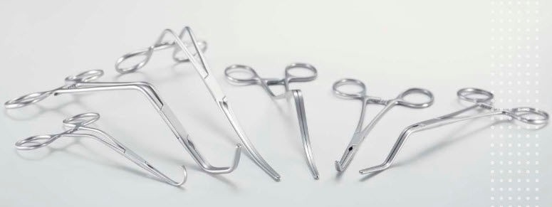 Cardiovascular Surgery Instruments included vascular clips scissors forceps and needle High Quality Stainless Steel.