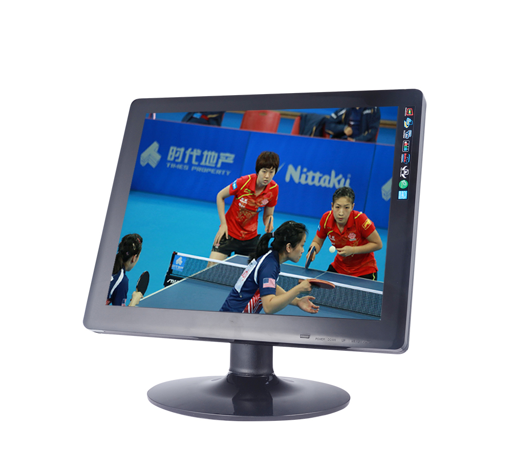 Desktop computer DC 12v square screen 17 inch VGA HD LCD monitor