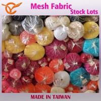 Taiwan Good Quality Various 100% Polyester Mesh Fabric Stock Lots For Nightwear