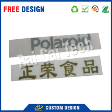 Top quality free design weatherproof 3M adhesive custom metal brand logo label printing