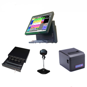 Electronic Cash Register 15 inch All-in-one 5-wire Resistive Touchscreen POS terminal/Restaurant POS System