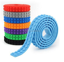 Cuttable polyester silicone adhensive building block tape For Legos toys