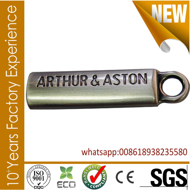 CR_ZP20151_zipper puller New design engraved logo zip puller