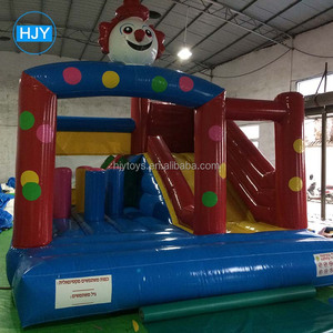 cheap crown inflatable bouncer for sale,inflatable jumping castle with slide